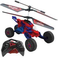 Carro Helicóptero de Controle Remoto Candide Copter Racer Marvel Homem Aranha com 7 Funções - Azul / Vermelho