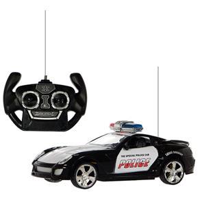 Carro Polícia Com Controle Remoto 27 Mhz Art Brink