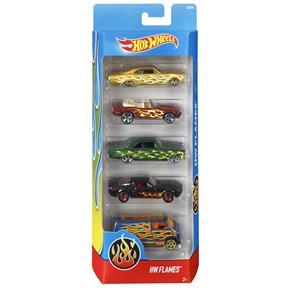 Conjunto de Carros Mattel Hot Wheels HW Flames - 5 Unidades