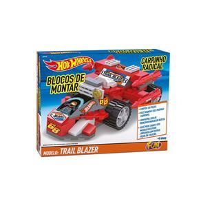Hot Wheels Blocos Carrinho Radical Trail Blazer - Fun Divirta - se
