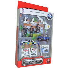 Kit de Carrinhos Policia em Ação - Fênix 00089610