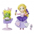 Mini Boneca com Acessórios - Disney Princesas - Little Kingdom - Rapunzel com Cadeirinha - Hasbro