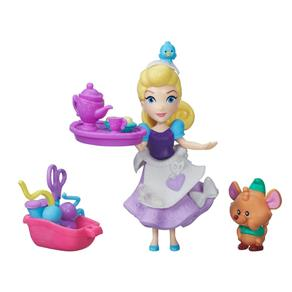Mini Boneca - Princesas Disney - Little Kingdom - Festa de Costura da Cinderela - Hasbro