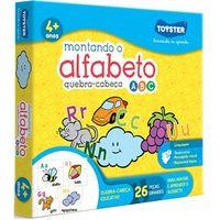 Quebra Cabeça Montando O Alfabeto 26 Peças - Toyster