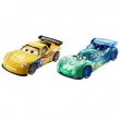 Veículos Hot Wheels - Disney Cars 2 - Pack com 2 Veículos - Jeff Gorvette e Carla Veloso - Mattel
