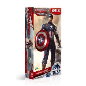 Os Vingadores Quebra - Cabeça 200 Peças Capitão América - Toyster