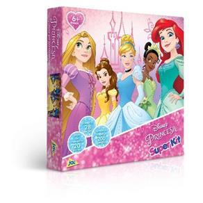 Princesas - Super Kit ( Quebra - Cabeça 200 Peças + Jogo da Memória + Dominó )