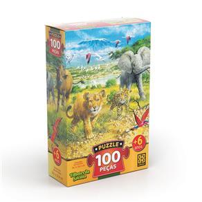 Puzzle 100 peças Filhotes da Savana