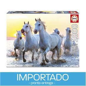 Puzzle 1000 peças Cavalos Brancos