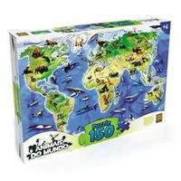 Puzzle 150 Peças Animais do Mundo