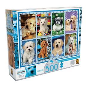 Puzzle 500 Peças Adoráveis Cãezinhos - Grow