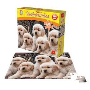 Puzzle Cachorrinhos 60 Peças - Algazarra