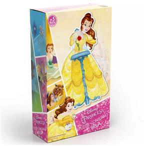 Puzzle Contorno Grow Princesas Disney - Bela - 75 Peças
