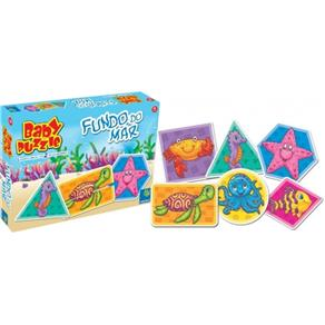 Quebra - Cabeça Baby Puzzle Fundo Do Mar - ABC Brinquedos