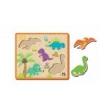Quebra - Cabeça De Encaixe Dinossauros - ABC Brinquedos