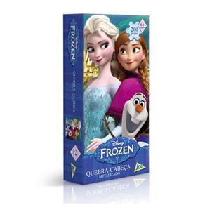 Quebra Cabeça Frozen Metalizado 200 Peças - Toyster