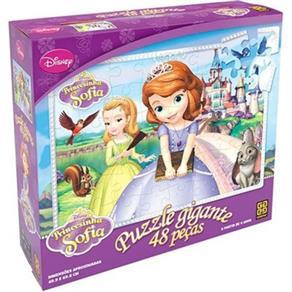 Quebra - Cabeça Gigante Princesinha Sofia 48 Peças Grow - 3069