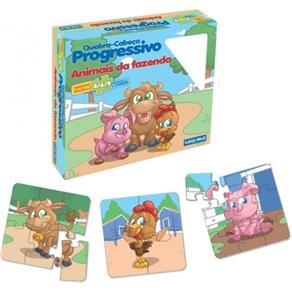 Quebra - Cabeça Progressivo Animais Da Fazenda - ABC Brinquedos