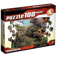 Quebra Cabeça - Puzzle 100 Peças - Dinossauros - Grow