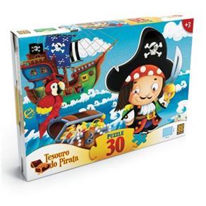 Quebra - Cabeça Tesouro do Pirata 30 Peças Grow - 3206
