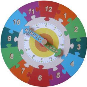 Relógio Quebra Cabeça Educativo