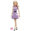Boneca Barbie com Anel Vestido Roxo / Preto - T7584 - Mattel