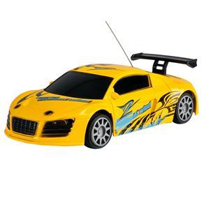 Carro de Controle Remoto CKS a Pilha com 7 Funções - Amarelo