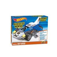Hot Wheels Blocos Carrinho Radical Sky Viper 7 - Fun Divirta - se