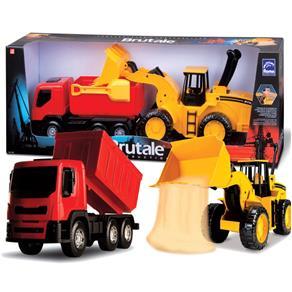 Kit 2 Caminhões Brutale Construção - Roma