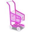Carrinho de Supermercado Infantil Lev - Pag - Rosa