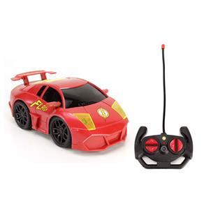 Carro de Controle Remoto Candide Liga da Justiça Dynamic Racer Flash com 7 Funções - Vermelho