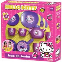 Jogo de Jantar Hello Kitty 17 Peças - Rosita