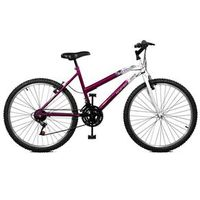 Bicicleta 26 Emotion 18 Marchas - Master Bike - Violeta com Branco roxo