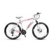 Bicicleta Alfameq Stroll Aro 26 Freio À Disco 21 Marchas - Branca Com Vermelho - Quadro 17