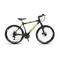 Bicicleta Alfameq Stroll Aro 26 Freio À Disco 21 Marchas - Preta Com Verde - Quadro 17