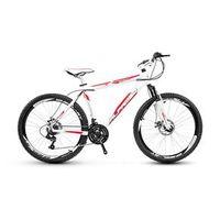 Bicicleta Alfameq Stroll Aro 26 Freio À Disco 24 Marchas - Branca Com Vermelho