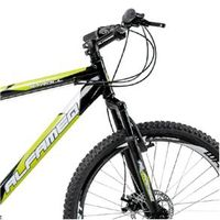 Bicicleta Alfameq Stroll Aro 26 Freio À Disco 24 Marchas - Preta Com Verde