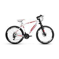 Bicicleta Alfameq Stroll Aro 26 Freio Disco 21 Marchas Garfo Downhill - Branca Com Vermelho - Quadro 21