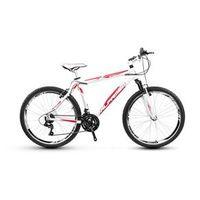 Bicicleta Alfameq Stroll Aro 26 Vbrake 21 Marchas - Branca Com Vermelho - Quadro 17