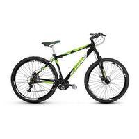 Bicicleta Alfameq Stroll Aro 29 Freio À Disco 24 Marchas - Preta Com Verde - Quadro 19