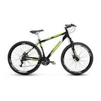 Bicicleta Alfameq Stroll Aro 29 Freio À Disco 27 Marchas - Preta Com Verde