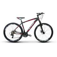 Bicicleta Alfameq Zahav Aro 29 Freio a Disco 21 Marchas Quadro 17 - Preto com Vermelho
