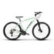 Bicicleta Alfameq Zahav Aro 29 Freio a Disco 21 Marchas Quadro 19 - Branco com Verde