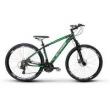 Bicicleta Alfameq Zahav Aro 29 Freio a Disco 21 Marchas Quadro 19 - Preto com Verde