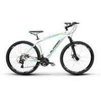Bicicleta Alfameq Zahav Aro 29 Freio a Disco 24 Marchas Quadro 17 - Branco com Verde