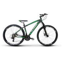 Bicicleta Alfameq Zahav Aro 29 Freio a Disco 24 Marchas Quadro 17 - Preto com Verde