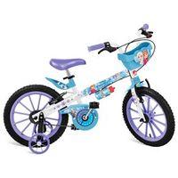 Bicicleta Aro 16 Bandeirante Disney Frozen - Branco / Azul