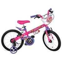 Bicicleta Aro 16 Bandeirante Disney Princesas - Rosa