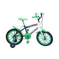 Bicicleta Aro 16 M. Kids Verde / Branco C / Ac Verde Dalannio Bike