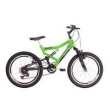 Bicicleta aro 20 6 marchas Dupla Suspensão Status verde
